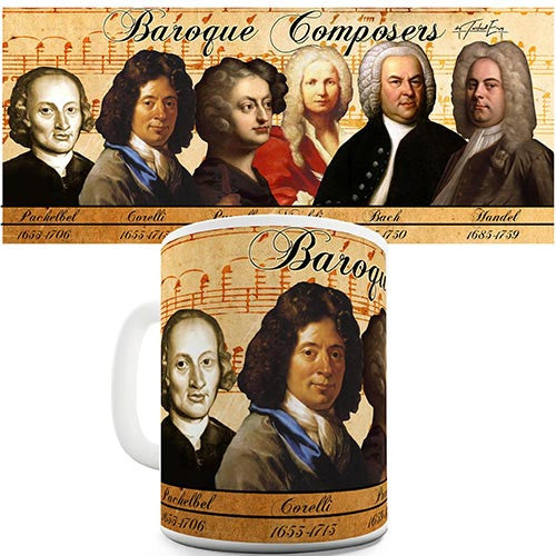 Baroque Composers Novelty Mug
