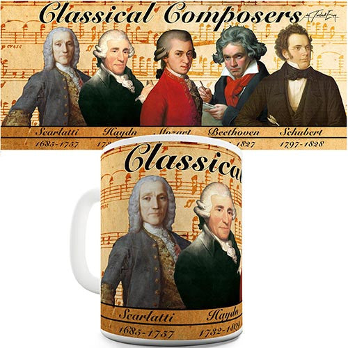 Classical Composers Novelty Mug