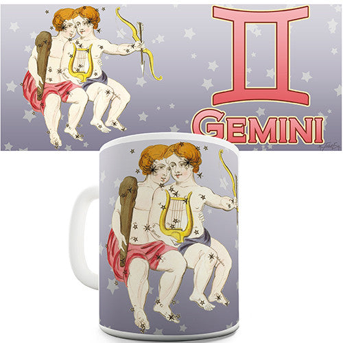 Gemini Star Sign Novelty Mug