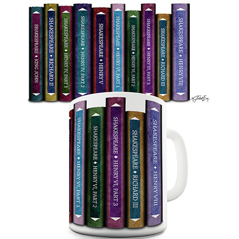 Shakespeare Histories Book Spines Novelty Mug