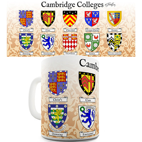 Cambridge Colleges Crests Novelty Mug