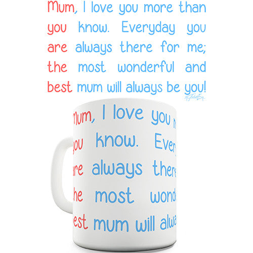 Best Mum Poem Novelty Mug