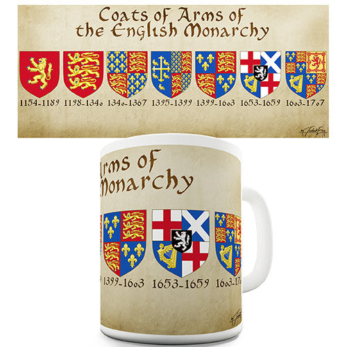 English Royal Coat Of Arms Novelty Mug