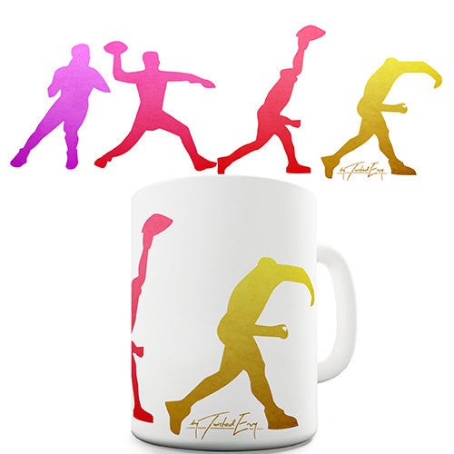 American Football Throw Novelty Mug