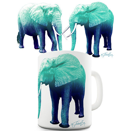 Blue Elephants Novelty Mug