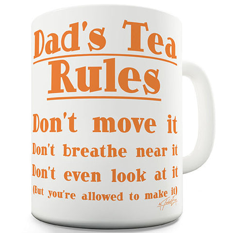 Dads Tea Rules Novelty Mug