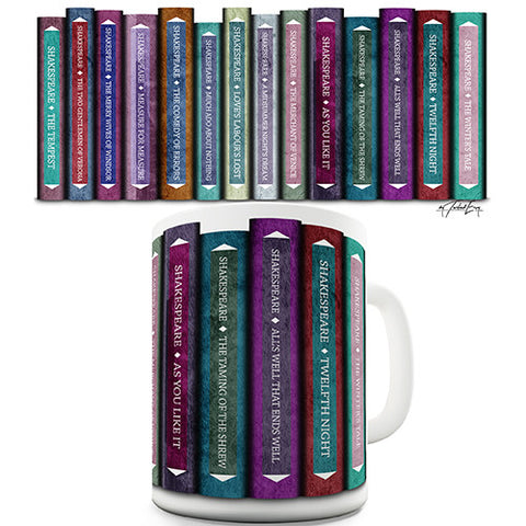 Shakespeare Comedies Book Spines Novelty Mug
