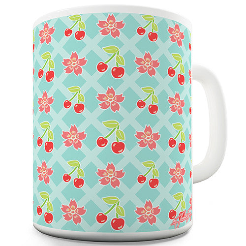Cherry Blossom Pattern Novelty Mug