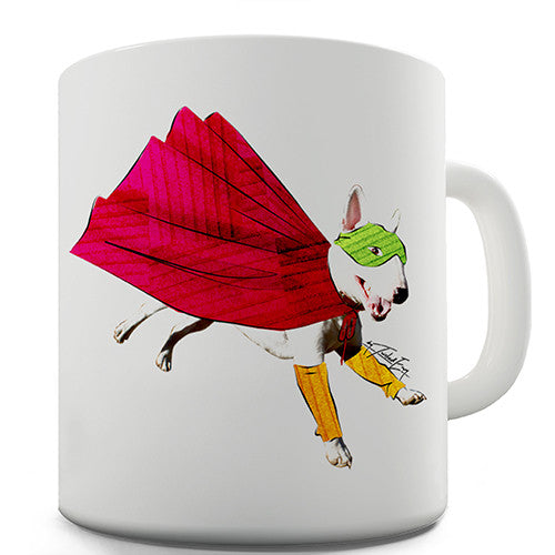 English Bull Terrier Superhero Novelty Mug