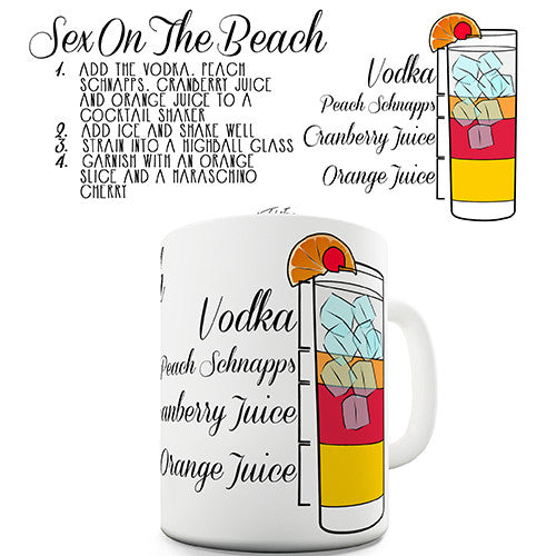 Sex On The Beach Cocktail Recipe Novelty Mug