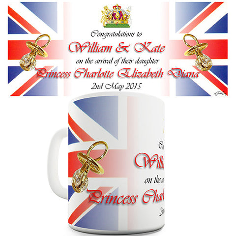Welcome Royal Baby Princess Charlotte Novelty Mug