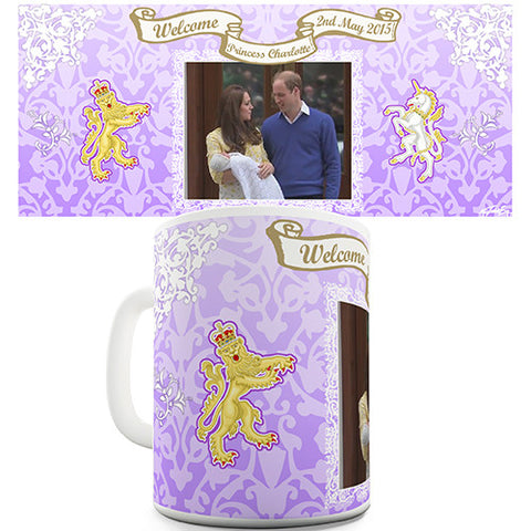 William & Kate Royal Baby Princess Charlotte Novelty Mug