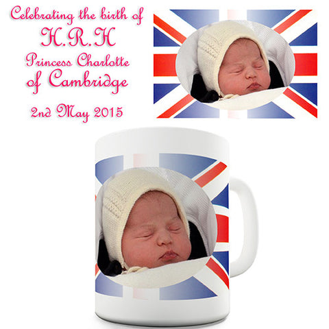 Royal Baby Princess Charlotte Portrait Novelty Mug