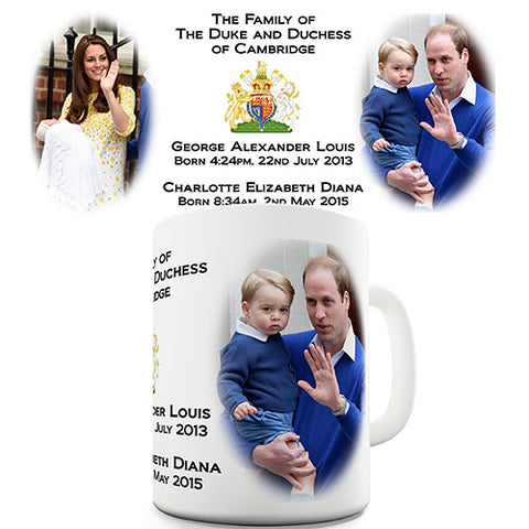 Kate & Will Royal Family Novelty Mug