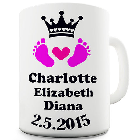 Royal Baby Princess Charlotte Heart Novelty Mug