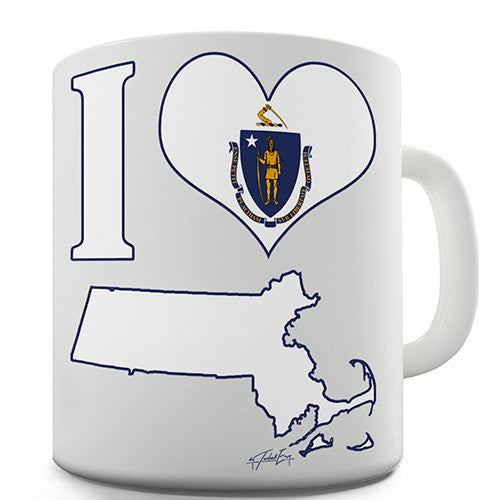 I Love Massachusetts Novelty Mug