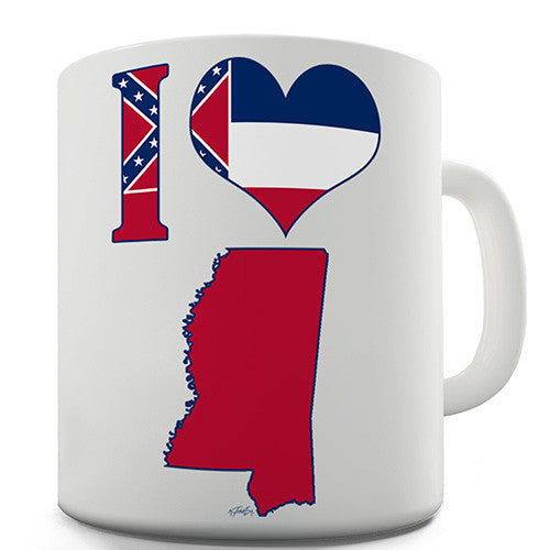 I Love Mississippi Novelty Mug