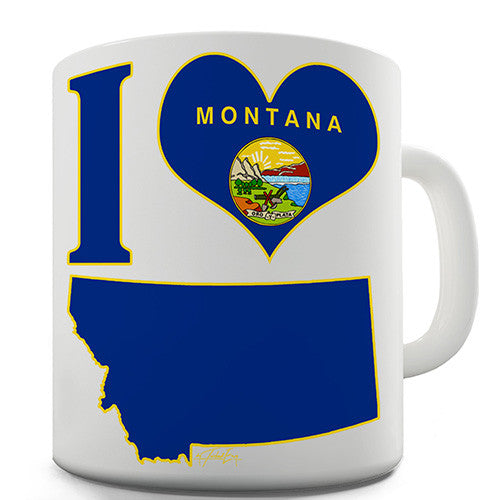 I Love Montana Novelty Mug