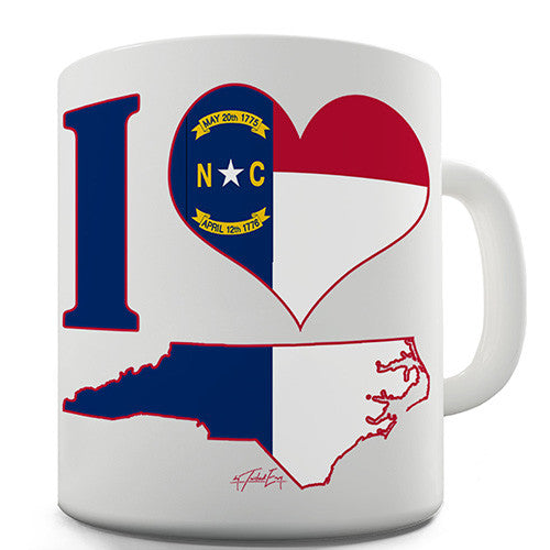 I Love North Carolina Novelty Mug