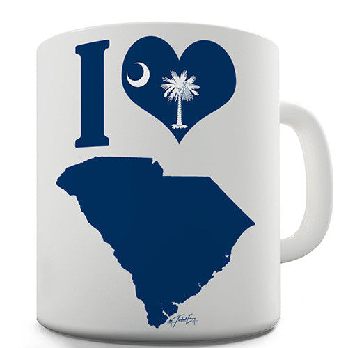 I Love South Carolina Novelty Mug