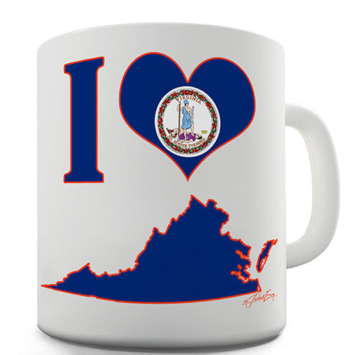 I Love Virginia Novelty Mug
