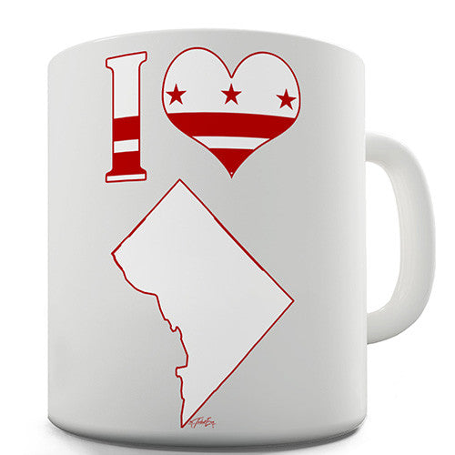 I Love Washington DC Novelty Mug