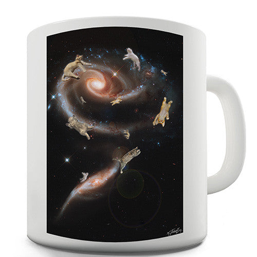 Cat Galaxy Novelty Mug