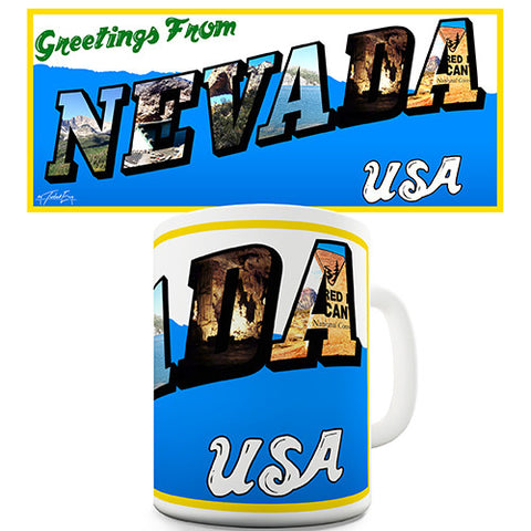 Greetings From Nevada Novelty Mug