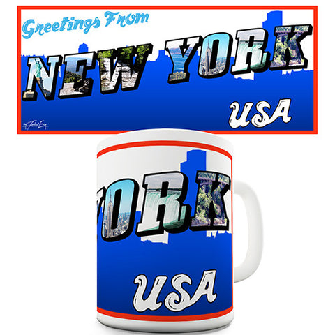 Greetings From New York Novelty Mug