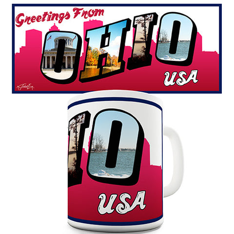 Greetings From Ohio Novelty Mug