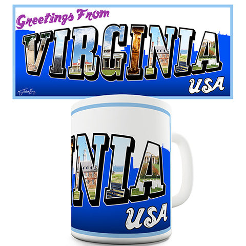 Greetings From Virginia Novelty Mug