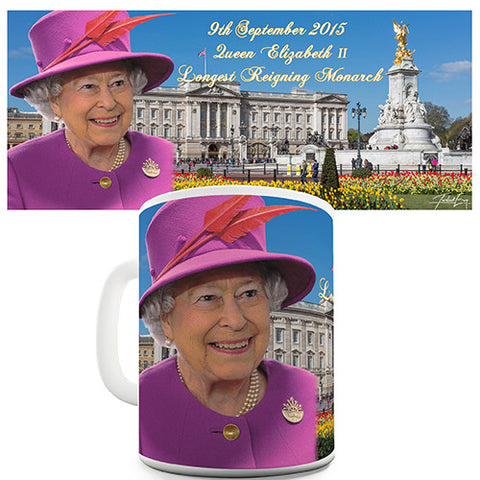 Elizabeth II Longest Reigning Monarch Novelty Mug