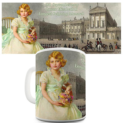 HM Queen Elizabeth II Longest Reigning Monarch Novelty Mug
