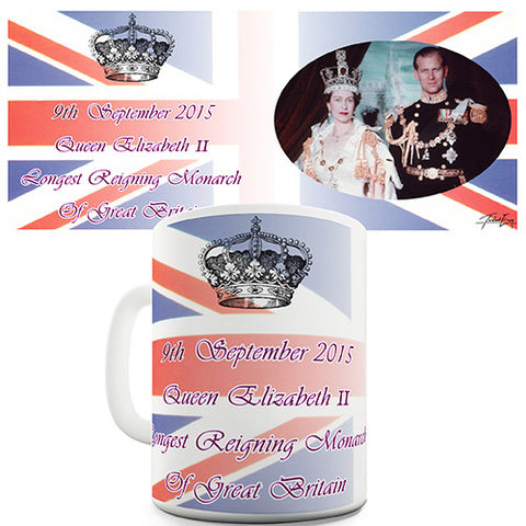 Queen Elizabeth II Great Britain Novelty Mug
