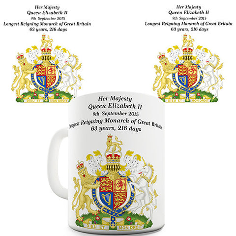 Her Majesty Queen Elizabeth II 63 Years Novelty Mug