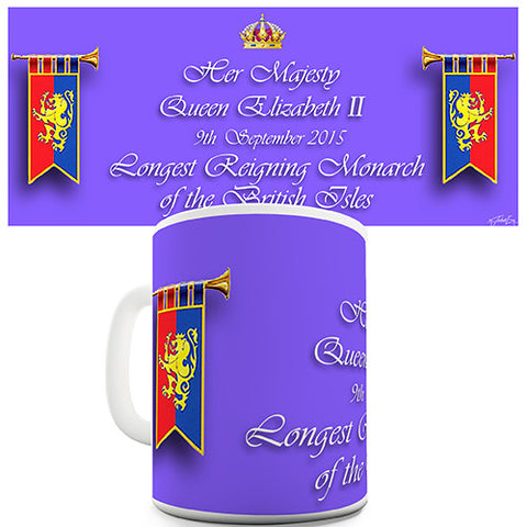 HM Queen Longest Reigning British Monarch Novelty Mug