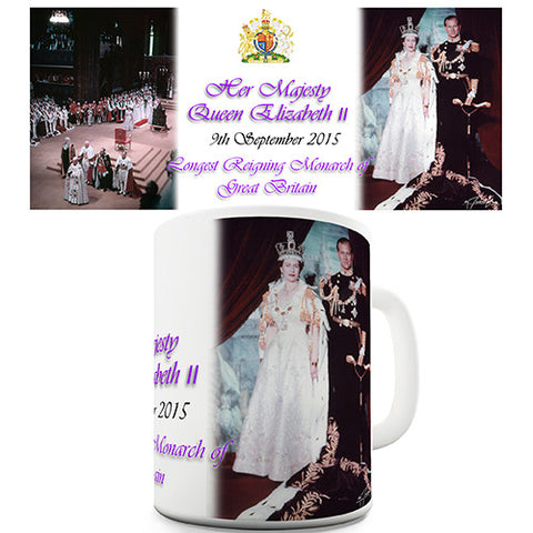 Queen Elizabeth II Commemorative Novelty Mug