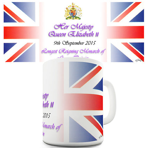 Queen Elizabeth II Celebration Novelty Mug