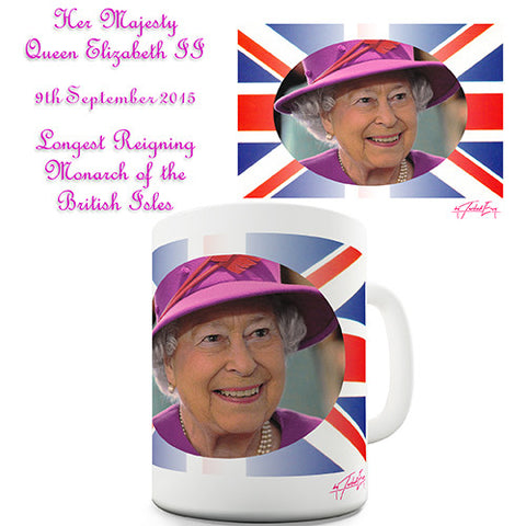Queen Of Great Britain Elizabeth II Novelty Mug