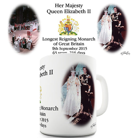 63 Years Reigning Her Majesty Queen Elizabeth II Novelty Mug