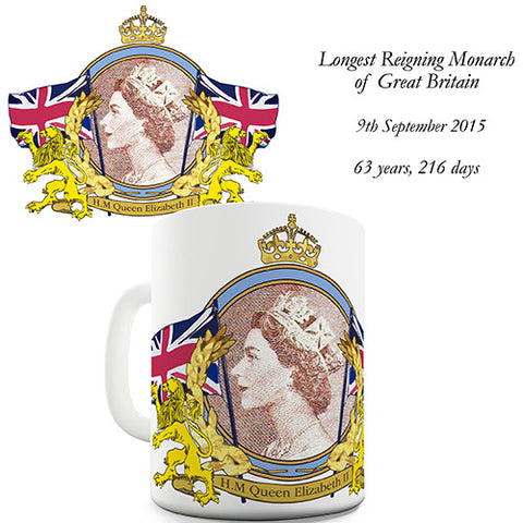 Her Majesty Longest Reigning British Monarch Novelty Mug