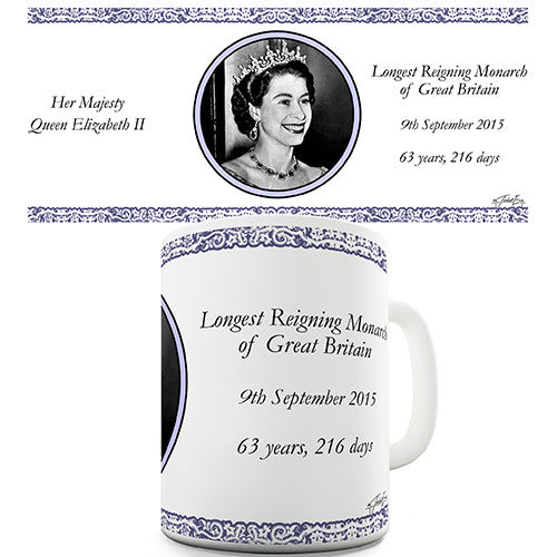 Commemorative Longest Reigning Monarch Novelty Mug