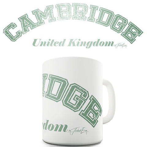 Cambridge United Kingdom Novelty Mug