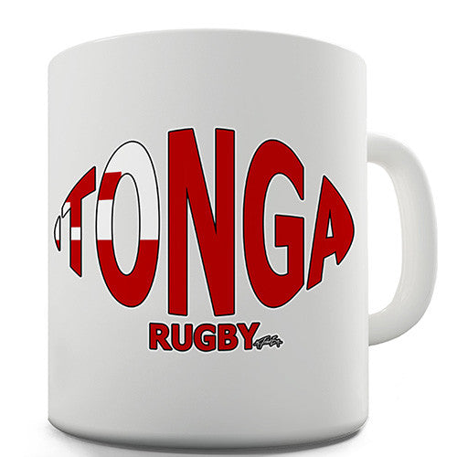 Tonga Rugby Ball Flag Novelty Mug