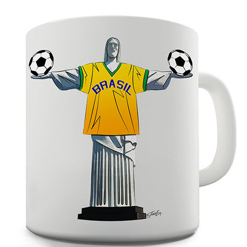 Christ The Redeemer Football Novelty Mug