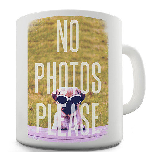 No Photos Please Novelty Mug
