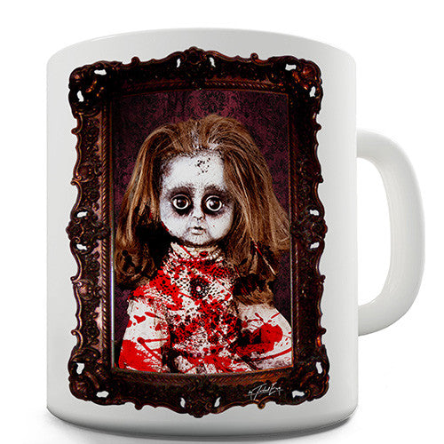 Halloween Creepy Doll Novelty Mug