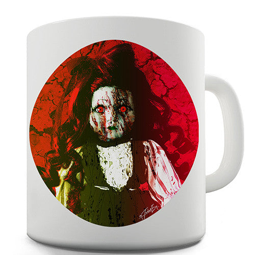 Freaky Insane Doll Novelty Mug