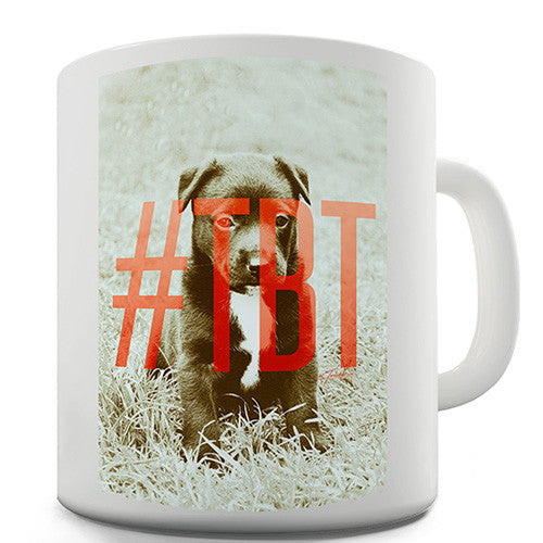 Hashtag TBT Throwback Thursday Novelty Mug
