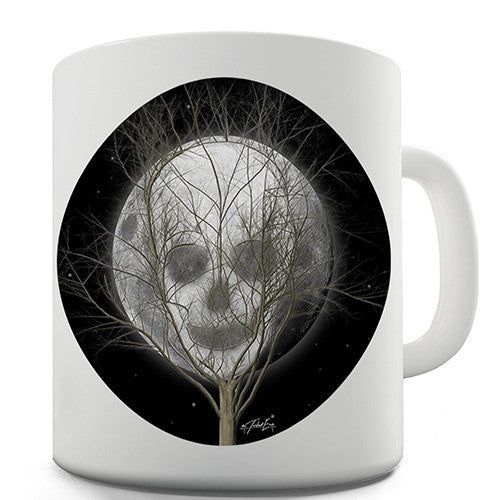 Full Moon Skull Tree Novelty Mug